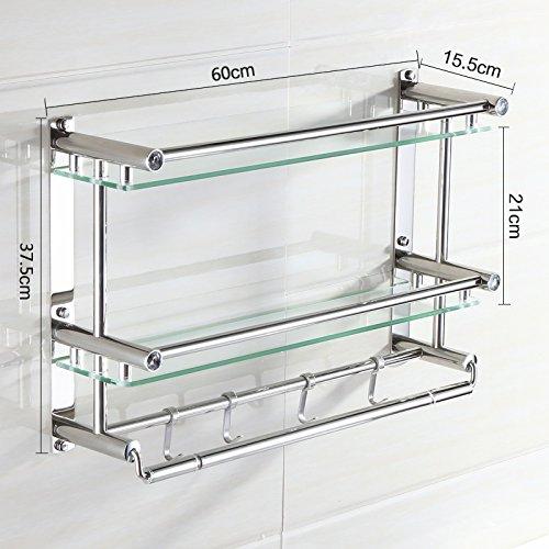 Estantes De Acero Inoxidable Para Baño   Fotografía de acero inoxidable  toalla rack doble baño 0259f9b96214